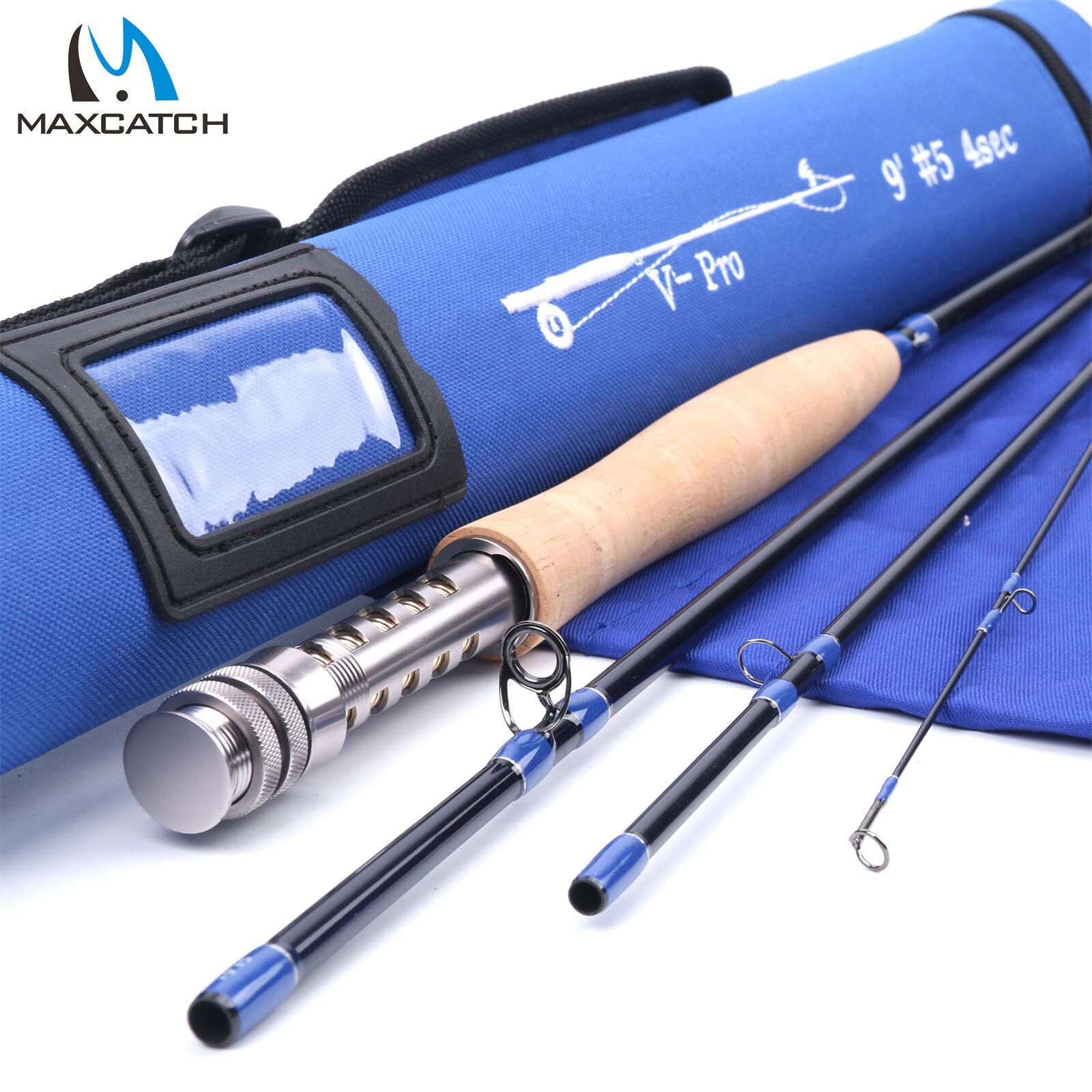 Maxcatch Pro Fly Rod 4/5/6/8wt 9ft Fast Action IM10 IM10 IM10 Carbon Fly Fishing Rod 5695f6