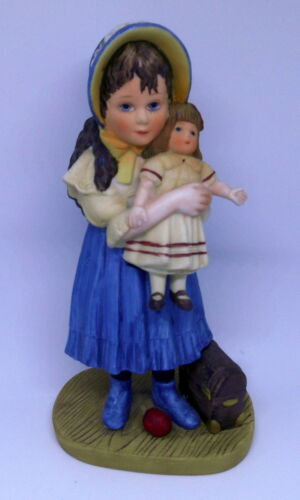 "1982 Jan Hagara ""Lisa And The Jumeau Doll"" Figurine Limited Edition #4249"