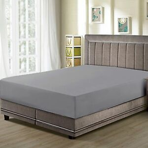 CC-amp-DD-Fitted-Sheets-Premier-1800-Microfiber-Luxury-Super-Soft-Dark-Gray
