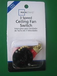 Chapter Mainstays 3 Speed 4 Wire Ceiling Fan Switch Ebay