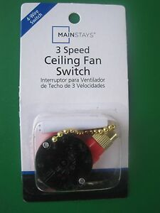 Chaptermainstays 3 speed 4 wire ceiling fan switch ebay image is loading chapter mainstays 3 speed 4 wire ceiling fan mozeypictures Gallery