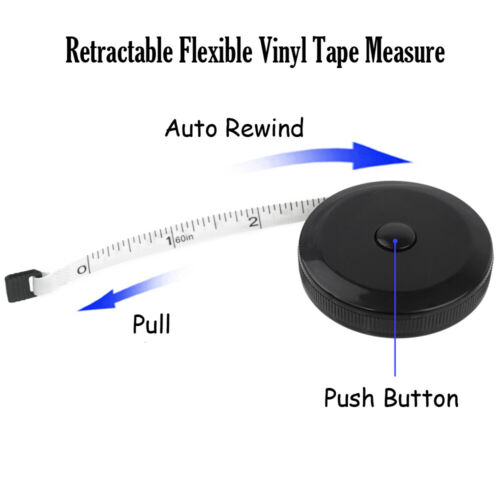 Soft Tape Measure Body Measuring Tape Cloth Ruler-Sewing Tailor Physician BK//WT