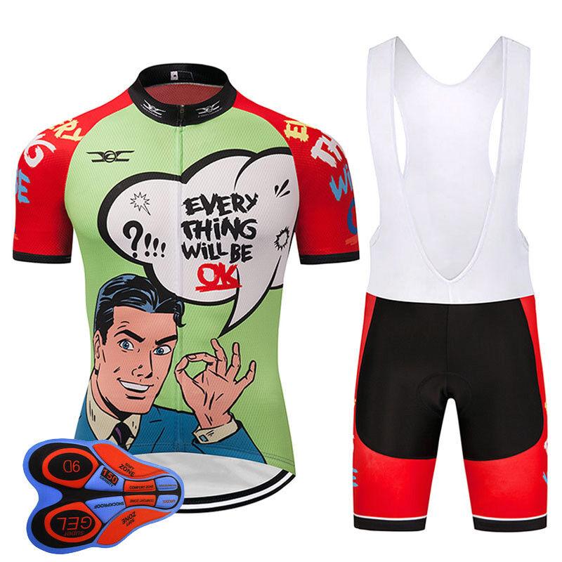 2019  OK Men Women FUNNY Cycling Clothing MTB Bike Wear cycling Jersey Short Set  shop makes buying and selling