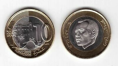 MOROCCO NEW ISSUE BIMETAL 10 DIRHAM UNC COIN 2011 YEAR HOLOGRAM