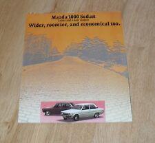 Mazda 1000 Sedan Brochure 1973 - Mazda 1000 Saloon 2 & 4 Door