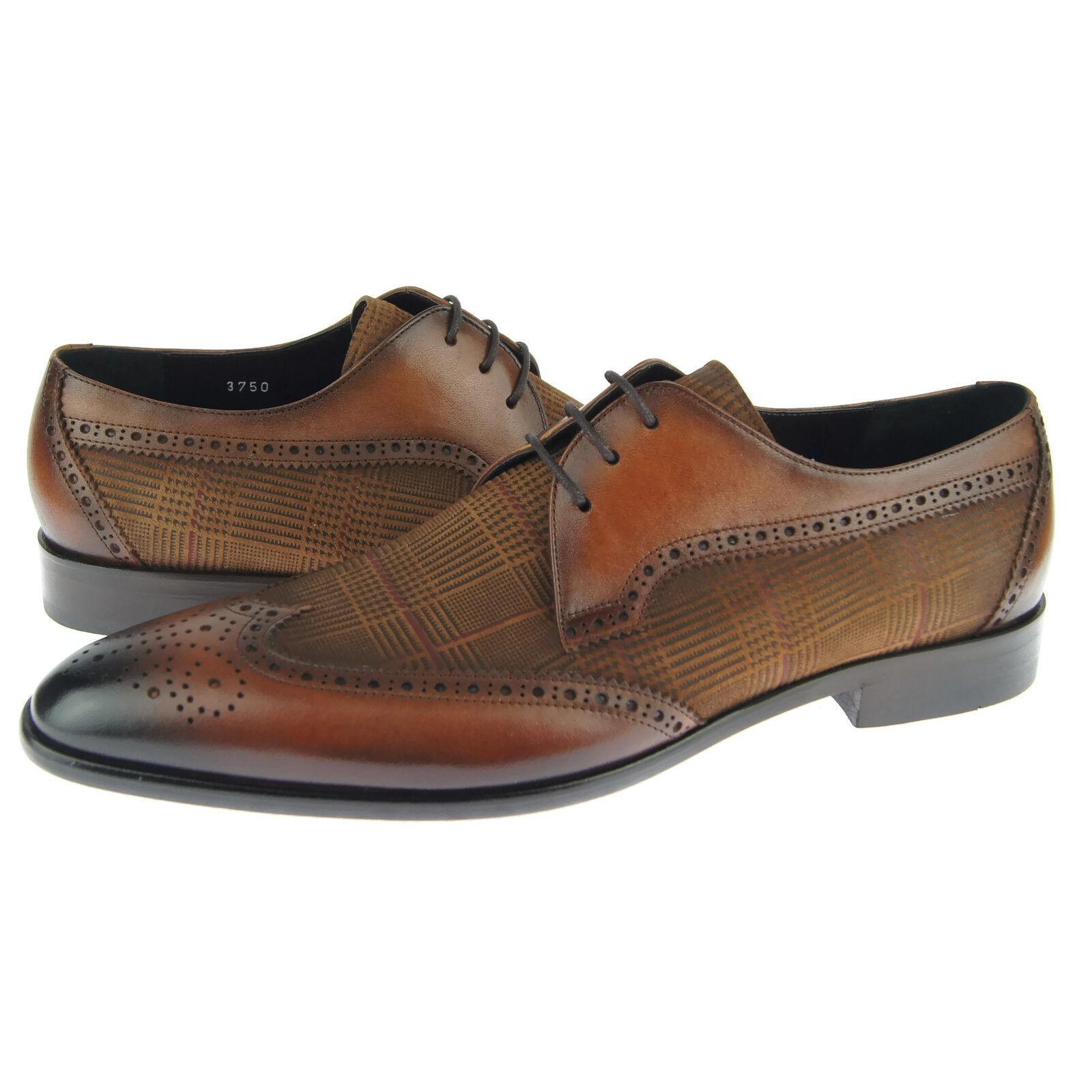 Corrente 3750 Wingtip Derby, Herren Kleid Leder Oxford Schuhe, Schuhe, Schuhe, Tabak  viele Zugeständnisse
