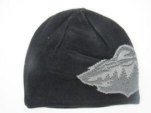 2e60ac0c3dd Minnesota Wild Men s Black Reversible Reebok Cuffless Knit Hat ...