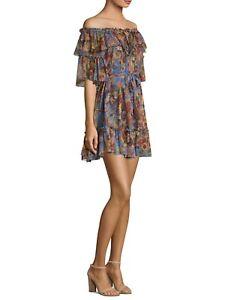 f718289e4911 Image is loading Zimmermann-Lovelorn-Silk-Frill-Mini-Dress-Size-1-