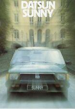 Datsun Sunny Prospekt 6 80 1980 brochure Auto PKWs Autoprospekt Japan Asien