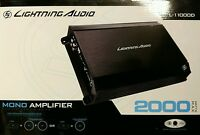 Lightning Audio L-11000d 2000 Watts Mono Channel Car Amplifier