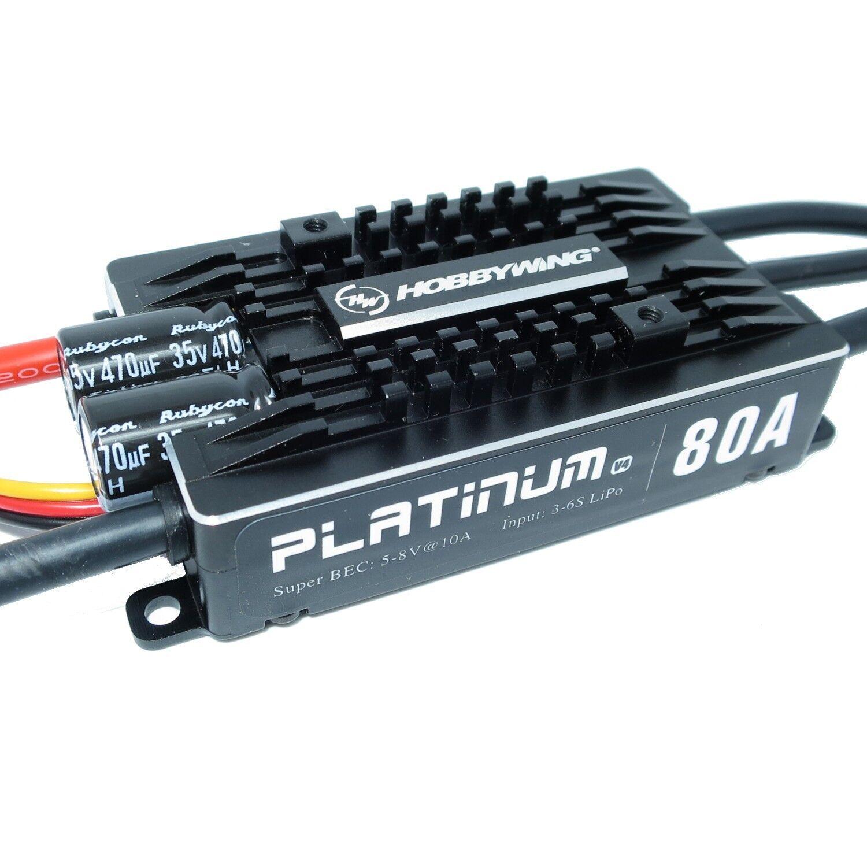 Hobbywing Platinum pro 80a v4 ESC 3s-6s Bec 5-8v 10a regulador bürstenloser motor
