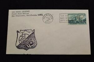 Navale-Cover-1967-Nave-Annullo-Postale-SHIP-039-S-Marchio-Uss-Snook-SSN-592-1174