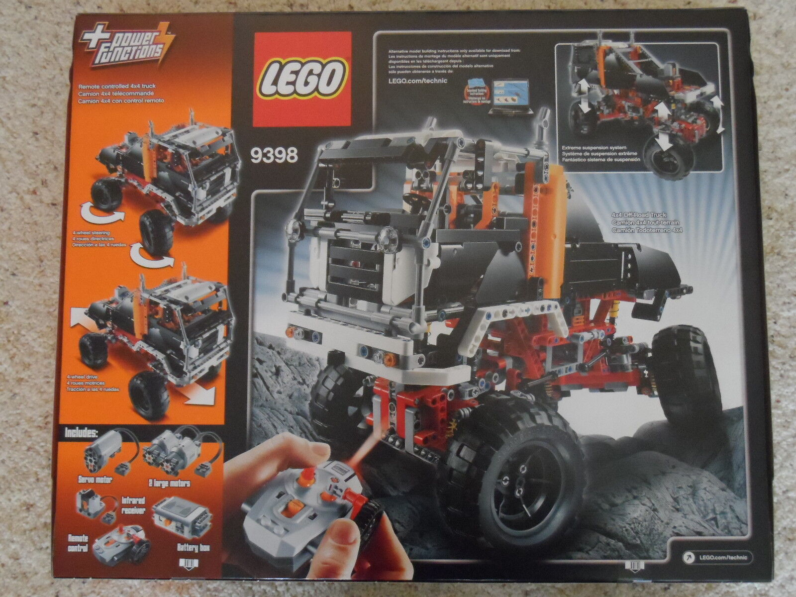 BRAND NEW and FACTORY FACTORY FACTORY SEALED LEGO TECHNIC SET 9398 CRAWLER 3073c7