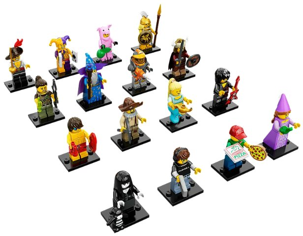 Lego minifigures series 12 complete set 71007