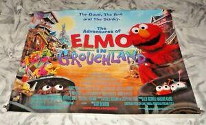 The Adventures Of Elmo In Grouchland Original UK Quad Movie Cinema Poster 1999