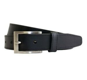 "Mens 30mm Full Grain Leather Block Edge Belt (8439), Small (32"") to XXXXL (56"")"