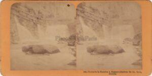 Suisse Chute Da Tamina Ragatz Foto Stereo Vintage Albumina Ca 1870