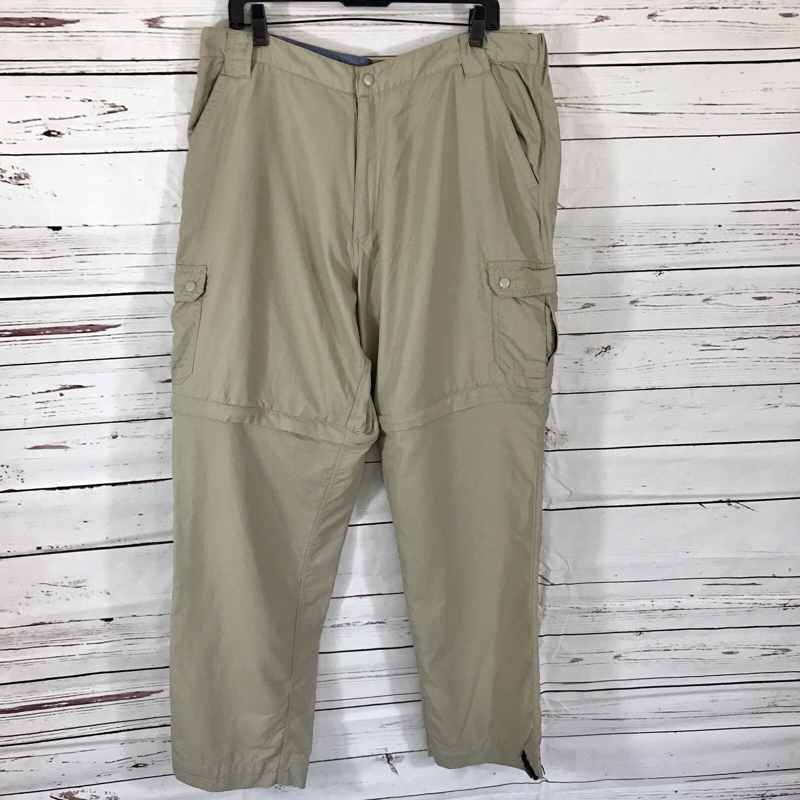Dakota Grizzly Men's  Congreenible Khaki Pants size XLT Hiking Fishing Nylon