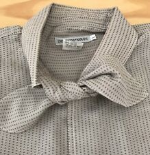 Vintage Emporio Armani Shirt with attached bow tie/scarf, Large, Italy