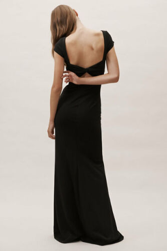 BHLDN Katie May Madison Dress Black Evening Bridal 2 6 Size 14 New