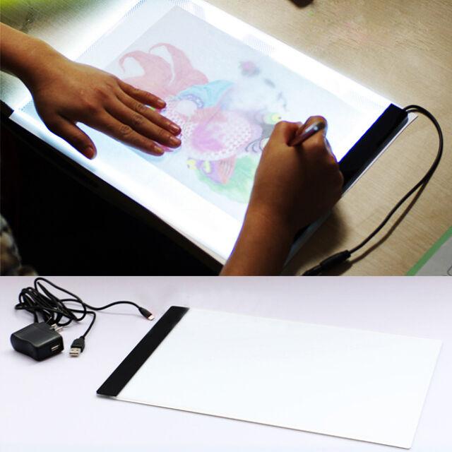 1 A4 LED Artist Thin Art Stencil Board Light Tracing Box Drawing Board Plate Set