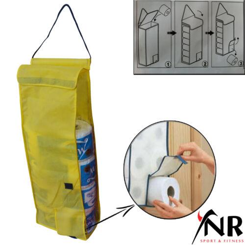Suspension porte-rouleaux de papier toilette Organisateur Rangement salle de bain en tissu de stockage Distributeur