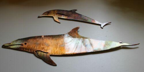 Dolphin Pair of 2 Metal Art Decor