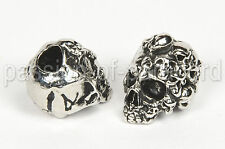 The Mind Skull, Metall, Totenköpfe, Totenkopf, Gothic Bead - für Paracord