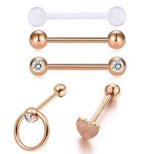 5pcs 14g Stainless Steel Straight Barbells Tongue Rings Nipple Rings Piercing Ebay