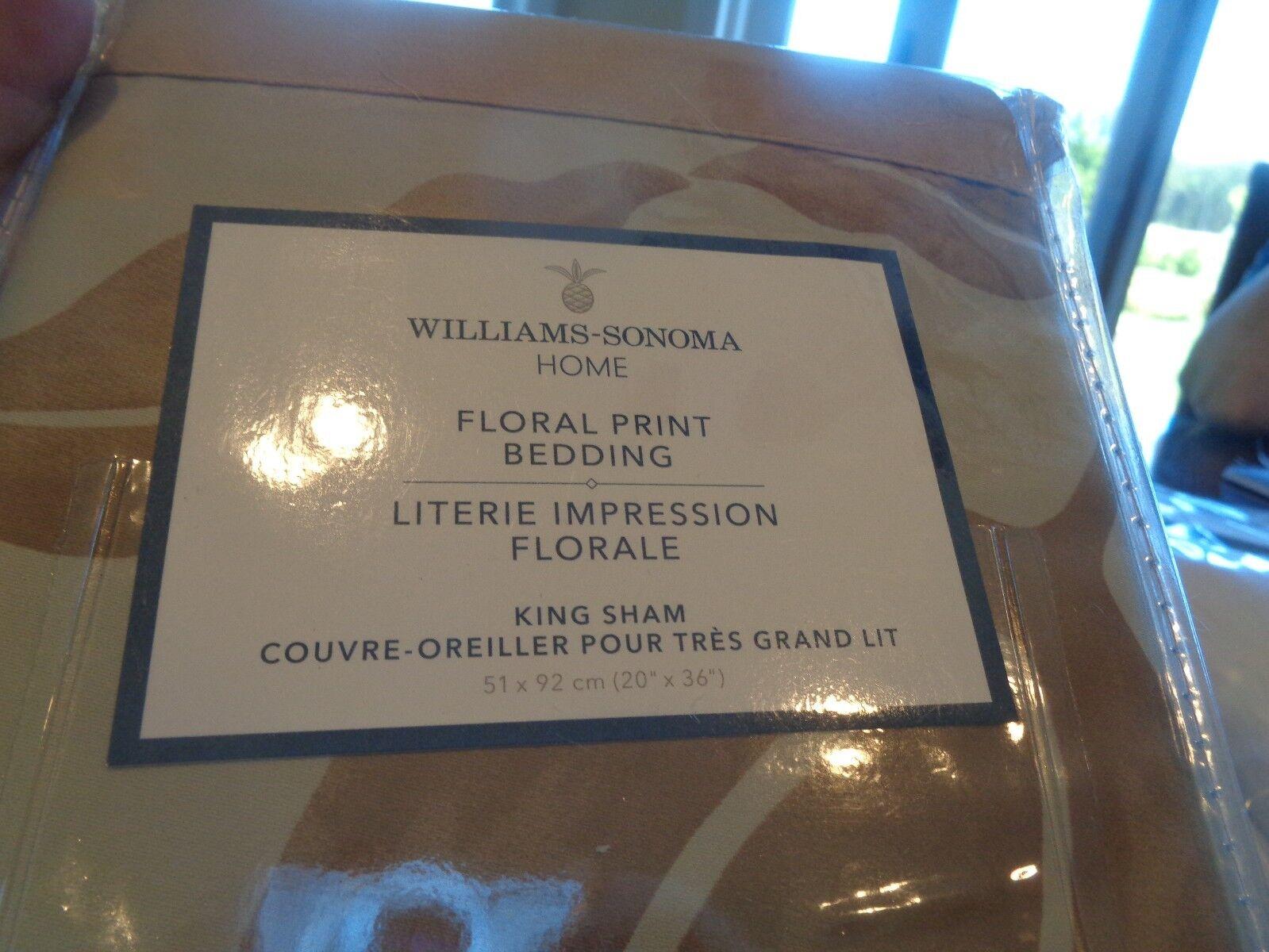 Williams Sonoma Home Floral Print shams King set 2 New