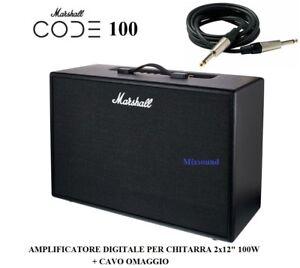 MARSHALL-Code-100-AMPLIFICATORE-DIGITALE-PER-CHITARRA-100W-EFFETTI-USB-Bluetooth