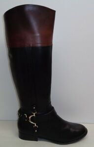 Alex Marie Size 6 M TAYLOUR Brown Black Leather Riding Boots New Womens Shoes