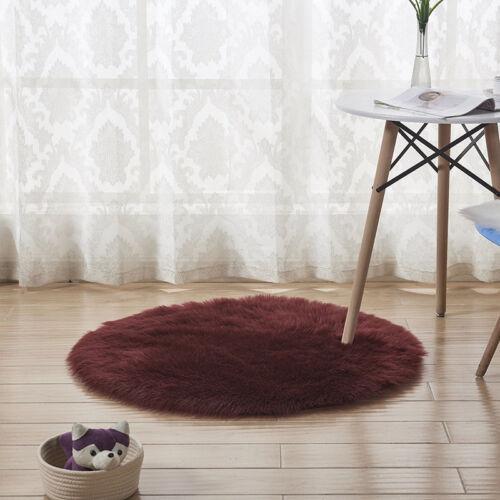 Fluffy Rug Anti Skid Area Living Room Bedroom Round Carpet Floor Mat Home Decor