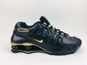 Nike 2012 Shox NZ EU Black Metallic Gold Running Shoes Womens Size 7 ... a8f8d37d8