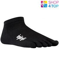 Injinji Sport Run Toe Socks Original Weight Micro Black Five Fingers Coolmax