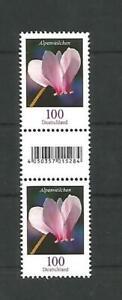 ALPENVEILCHEN Serie Blumen Bund MiNr 3365R Typ 2a kleine Nummer- Paar mit ZwSteg