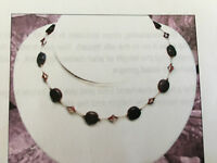 Harlequin Beads Jewelry Making Kit Purple Dumortierite Knotted Silk Necklace