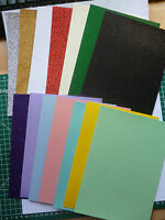 3 x A5 sheets quality Fixed Glitter card Low shed  220 gsm 20 lovely colours