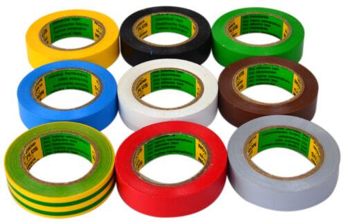 Isolierband 10 Rollen Isoband Elektriker Klebeband 10m x 15 mm rot