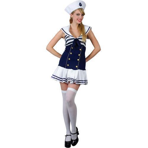 Sailor Girl Ladies Fancy Dress Womens Navy Uniform Costume Adults Outfit UK 6-24