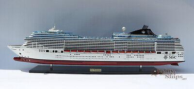 MSC Splendida Cruise Ship Handcrafted Wooden Ship Model 40 ...