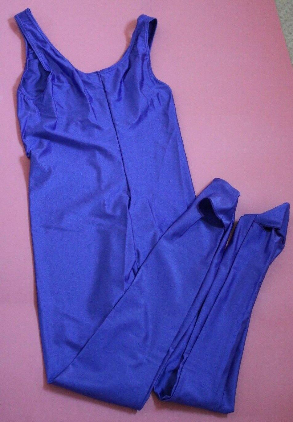 Adagio Purple Nylon Lycra Sleeveless Catsuit Small Adult NEW