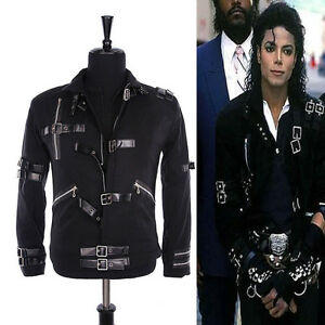 HOT-MJ-MICHAEL-JACKSON-MEN-039-S-JACKET-PUNK-BAD-BLACK-JACKET-FASHION-COOL