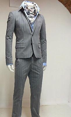 IMPERIAL Completo Rigato Giacca /& Pantalone Uomo Slim Fit Trendy Men/'s nero moro