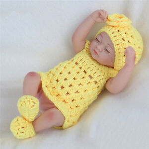 Silicone-Full-Coverage-Mini-Lifelike-Company-Reborn-Baby-Doll-Kid-Gift-Toys