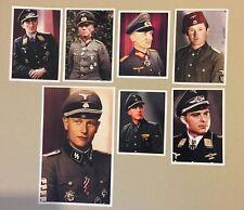 ww2 german lot 7 COLOR PHOTO uniform insignia officer solider cap hat medal rank