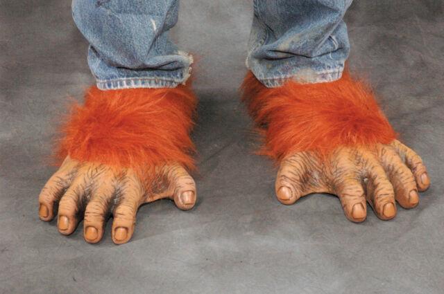 Orangutan Feet Great Ape Monkey Adult Shoe Covers Latex Halloween Costume