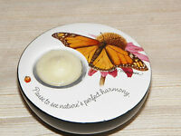 Butterfly On Flower & Ladybug Inspirational Saying Tealight Candle Holder