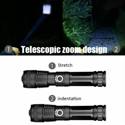 1000000LM xhp50 xhp70 LED Ultra Bright Rechargeable USB Zoom Flashlight Torch UK
