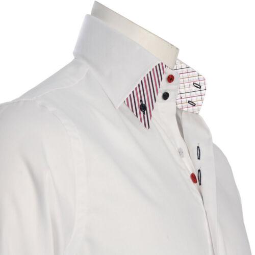 Homme Chemise Habillée Men Italian Robe Col Double Créateur Décontracté Luxury